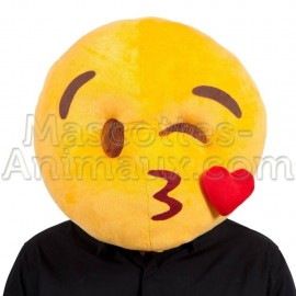 buy cheap smiley kisses head mascot costume. Fancy smiley kisses head mascot costume. Discount smiley head mascot.