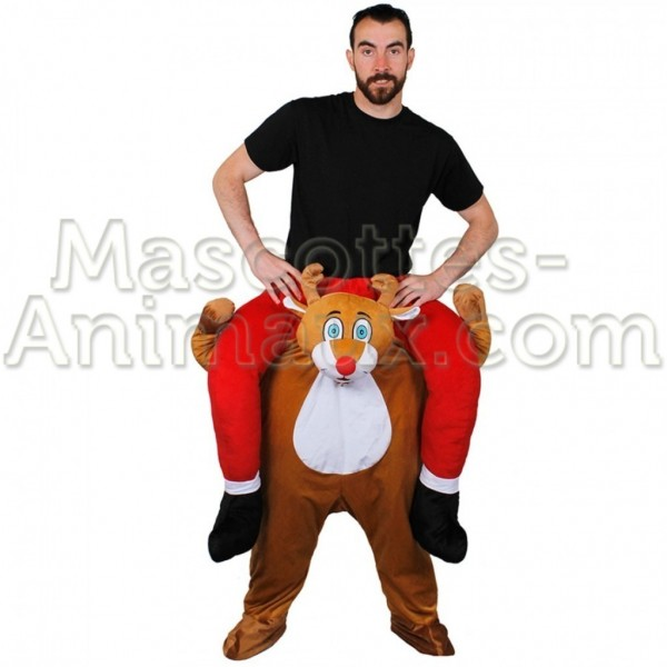 Buy cheap reindeer riding mascot costume. Fancy reindeer riding mascot costume. Discount reindeer riding mascot.