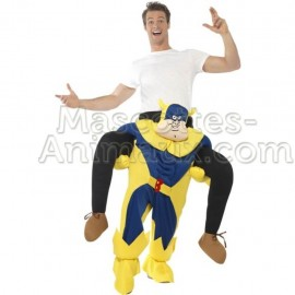 Buy cheap riding mascot comix superhero costume. Fancy superhero riding mascot costume. Discount superhero riding mascot.
