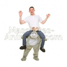 Buy cheap grey rabbit riding mascot costume. Fancy grey rabbit riding mascot costume. Discount rabbit riding mascot.