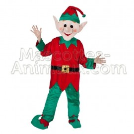 Buy cheap santa elf mascot costume. Fancy santa elf mascotte costume. Discount elf mascot.