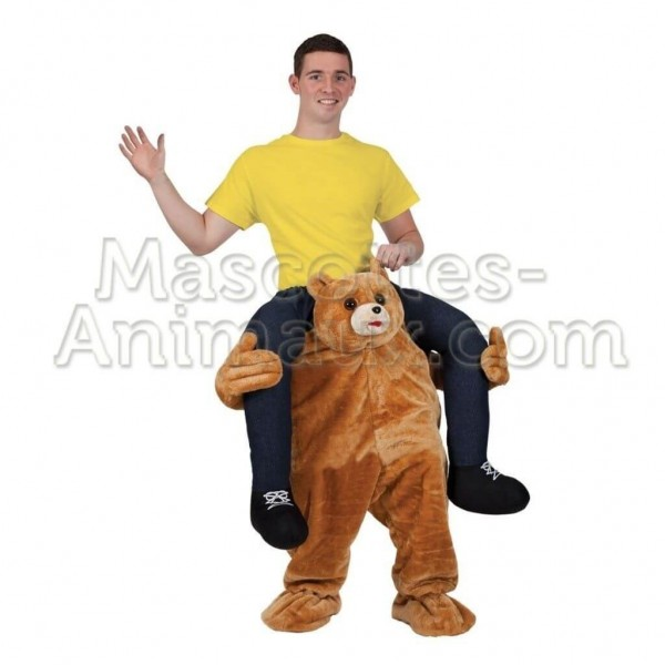 Buy cheap teddy bear riding mascot costume. Fancy teddy bear riding mascot costume. Discount bear riding mascot.