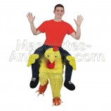 Buy cheap riding chick mascot costume. Fancy chick mascote costume. Discount chick mascot.
